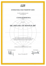IRU diploma of honour